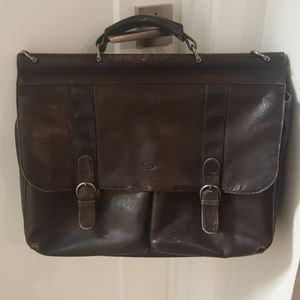 SOLO Leather Laptop briefcase